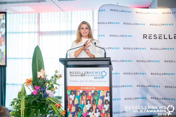 Angela Cunneen at the Reseller News Women in ICT Awards 2019.