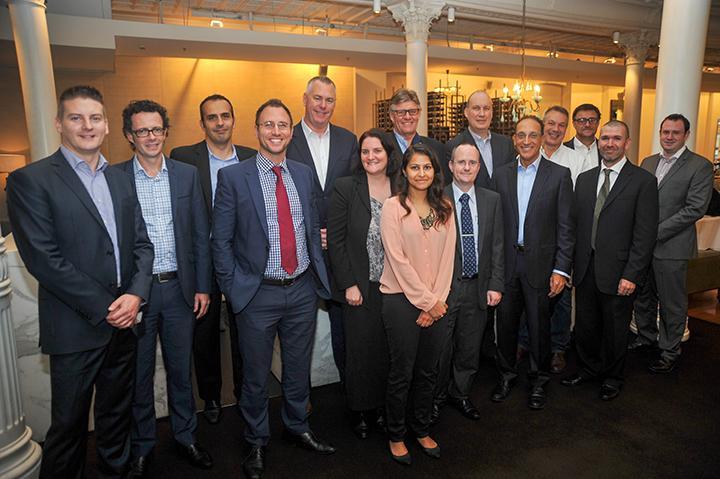 Attendees (left to right): James Leitch (Optus),  Timothy Otton (Telstra); George Kazangi (Blue Central), Michael Diaz (Veeam), Steve Martin (NEXTDC),  Jennifer O'Brien (ARN), Craig Somerville (The Somerville Group), Hafizah Osman (ARN), David Hanrahan (Dimension Data), Scott Atkinson (BigAir), Moheb Moses (Channel Dynamics), Philip Meyer (Microsoft), Stephen Parker (Rhipe), Jules Rumsey (Cloud Plus), Yoni Kirsh (Fastrack Technology)