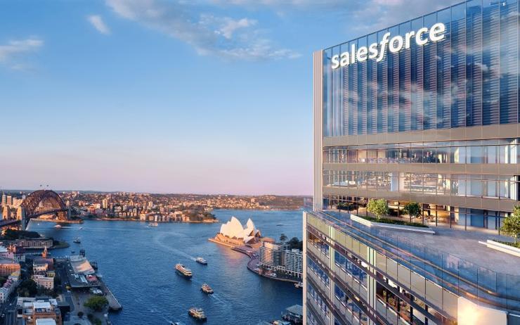 An artist's impression of Salesforce Tower Sydney