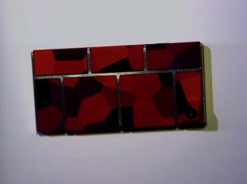 A prototype Project Ara handset shown during a developer conference in Mountain View on April 15, 2014. (webcast screenshot)