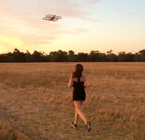 A study by researchers in Australia has found that quadcopters can help people feel motivated to get out and jog. The findings are being presented at the Computer-Human Interaction Conference in Seoul this week.