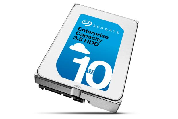 Seagate's new 10TB Enterprise Capacity 3.5-in. hard disk drive is being targeted for use in cloud-based data centers.  Credit: Seagate