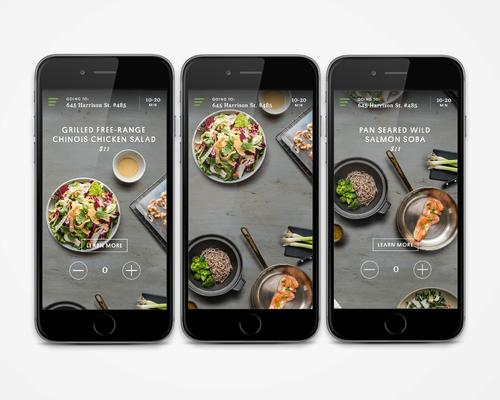 Sprig's food delivery app lets users browse a menu that changes daily.