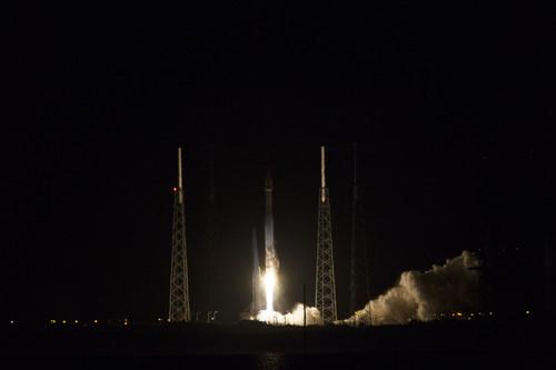 NASA's TDRS satellite launching on an Atlas V rocket on January 23, 2014.