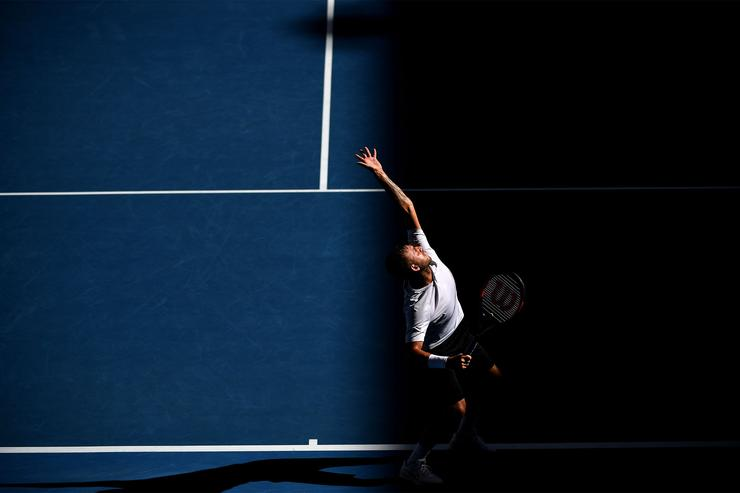 Dan Evans, Round 4, Hisense Arena, 22 January 2017 - (Tennis Australia)