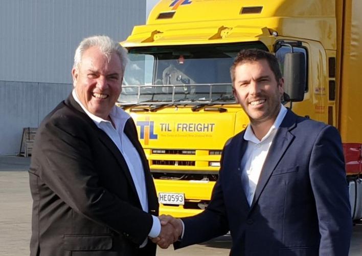 Alan Pearson (TIL Logistics) and Charles Dawson (Autosense).