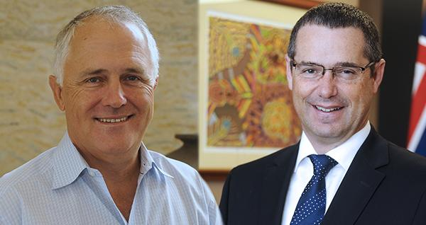 Malcolm Turnbull and Stephen Conroy