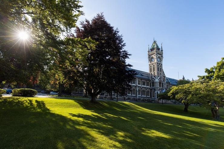 The University of Otago clock tower in Dunedin.