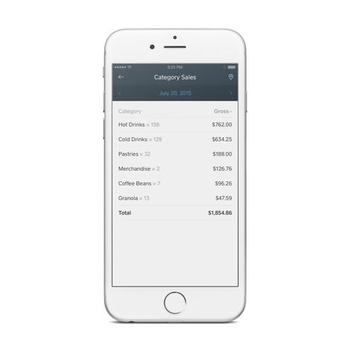 Square's new Dashboard app.
