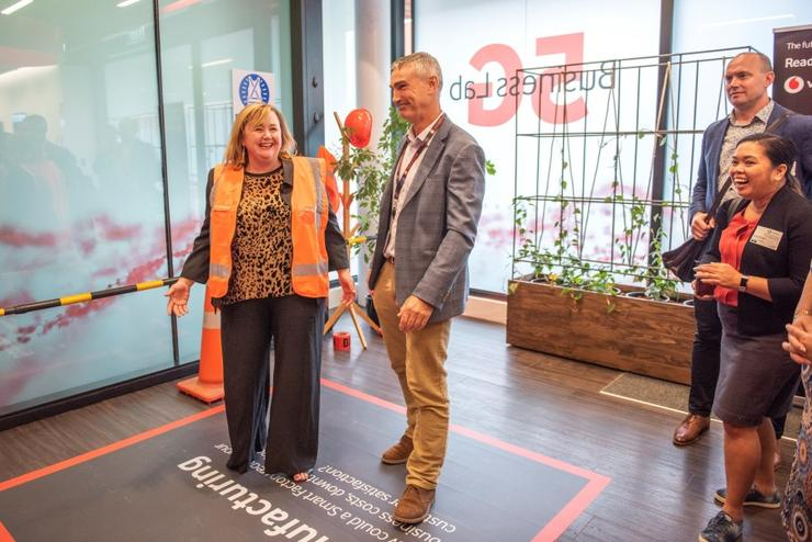 Science and innovation minister Megan Woods opened Vodafone's 5G lab in Christchurch yesterday