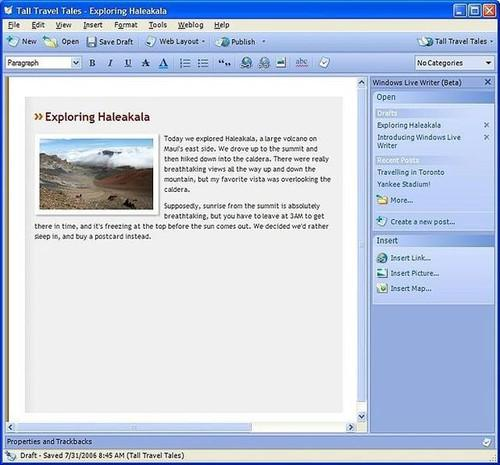 Live Writer's UI may look creaky, but the popular blogging tool will survive as open source, Microsoft says.