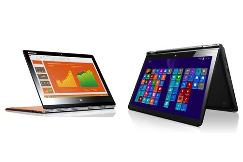 Lenovo's new Yoga 3 Pro and ThinkPad Yoga 14 notebooks.