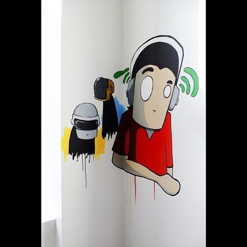 Street artists spruce Spotify's NYC office