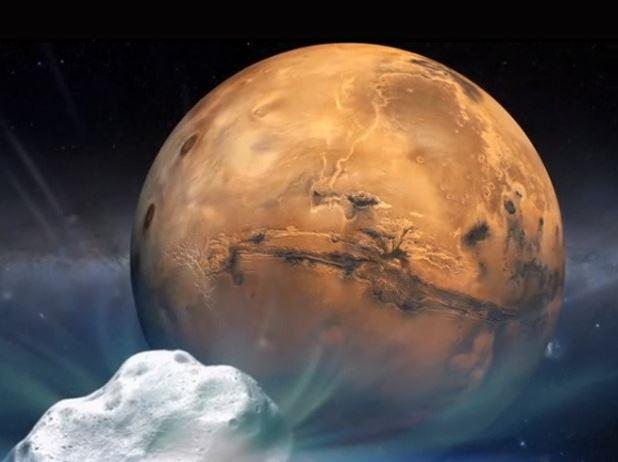 In Pictures: Mars gets close encounter with a comet