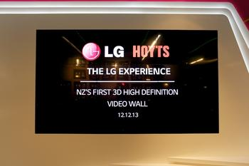 IN PICTURES: LG unveils cinema 3D video wall in NZ
