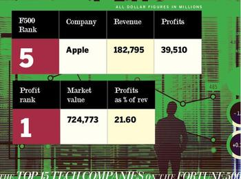 In Pictures: The top 15 tech companies on the Fortune 500