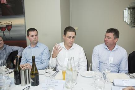 Lewis Holden (Cogent); Karl Thomson (StorageCraft) and Phil Martin (SAS IT)