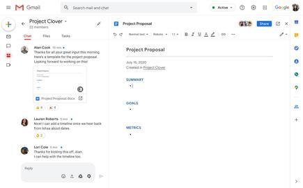 Expanded Gmail search will cover Chat conversations, making it easier to locate information on a specific project