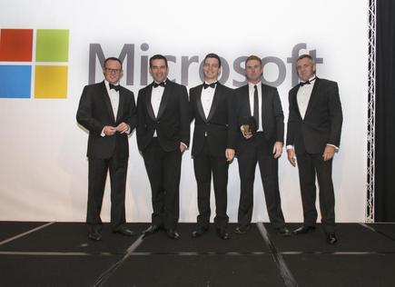 Team Atmospheric win the Cloud SMB award at the Microsoft NZ Partner Awards in 2015.