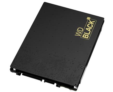 WD's Black2 dual drive includes a 120GB SSD and a 1TB hard drive in the same physical package, making it an ideal upgrade for a Windows-based notebook.
