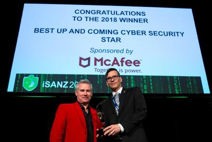 Daniel Underhay receives Up and coming Cybersecurity Star Award