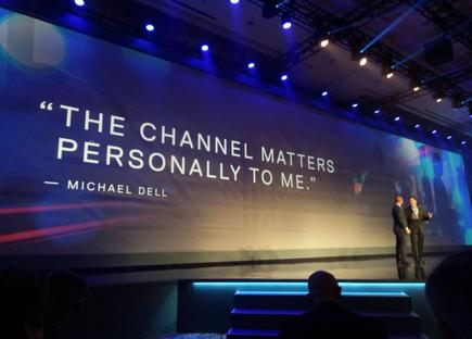 Michael Dell addresses channel partners at Dell EMC World 2017