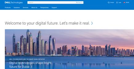 Dell EMC homepage in June 2019