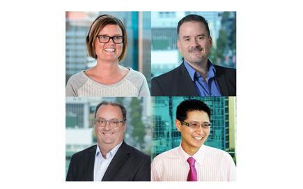 (L-R clockwise) - Kirsten Mclay (Deloitte); Charles Bonfante (Deloitte); Terry Teoh (Deloitte) and Marco Ciobo (Deloitte)