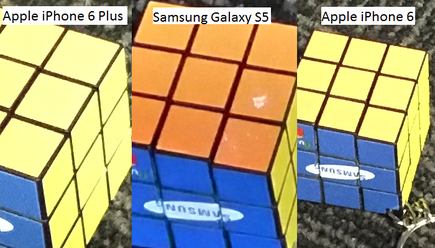 In this comparison, you can see the iPhone's camera blow out orange into yellow