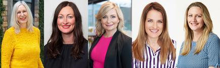 Kendra Ross (Duo); Libby Macgregor (Lenovo); Vanessa Sorenson (Microsoft); Misti Landtroop (Palo Alto Networks) and Barbara Kidd (Ingram Micro)