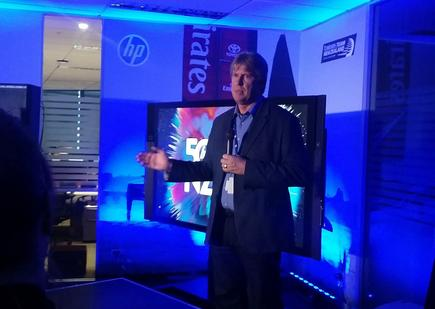Grant Hopkins, HP managing director, marks a milestone.