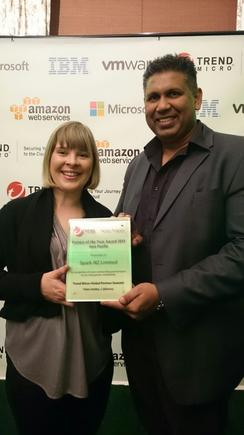 Lucy Swanston of Spark Digital accepts the award