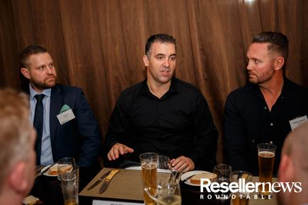Jon Fox (Sophos); Mark Ellis (Datacom) and Michael Russell (Origin IT)