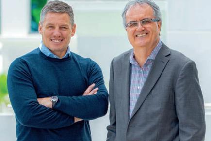 Andrew McKenzie, CEO, and Vui Mark Gosche, chair. (Kainga Ora)