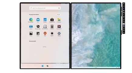 Microsoft's Windows 10X will boast a simplified home screen. Here's what it looks like in the Microsoft Emulator mode
