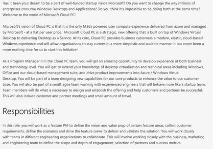 "A Microsoft job opening hinted at a service, ""Cloud PC,"" that would offer corporate customers virtualised Windows 10 that Redmond would service and maintain"