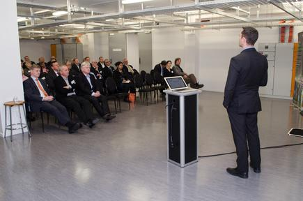 Ian Forrester - Managing Director, Plan B, opening the company's Wellington Data Centre in 2014