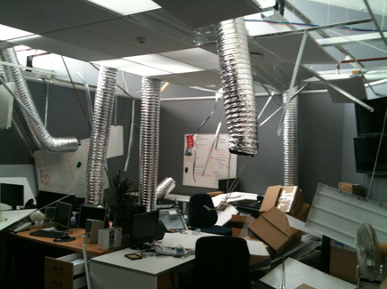 CCL's office in Christchurch, on February 22, 2011
