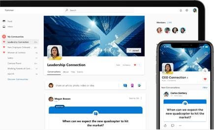 Yammer is being positioned as an app that can let business leaders better connect with employees