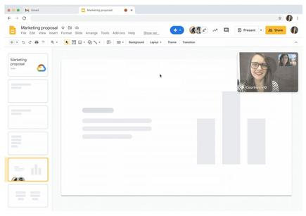 """Google Meet will soon get """"picture-in-picture,"""" which brings video chat windows into Docs, Sheets and Slides"""