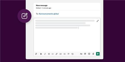 """The """"compose"""" feature will be familiar to users as they switch from email to Slack"""