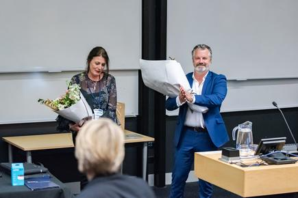 """The conference is a perfect example of how successfully both universities can collaborate towards a very successful end goal - to support women in the IT industry,"" says AUT CIO Liz Gosling, with University of Auckland ITS director Jason Mangan, at the end of the one-day forum."