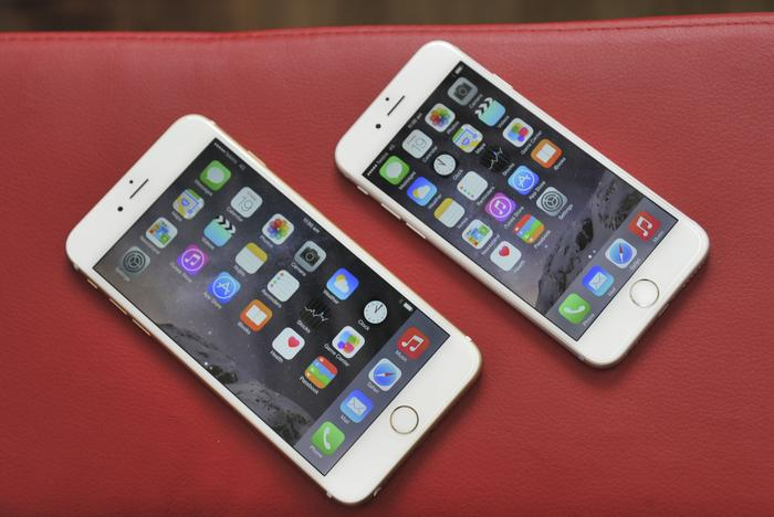 The iPhone 6 Plus alongside the iPhone 6
