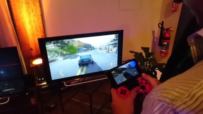 The Xperia Z3 being used as a display for the PS4 console
