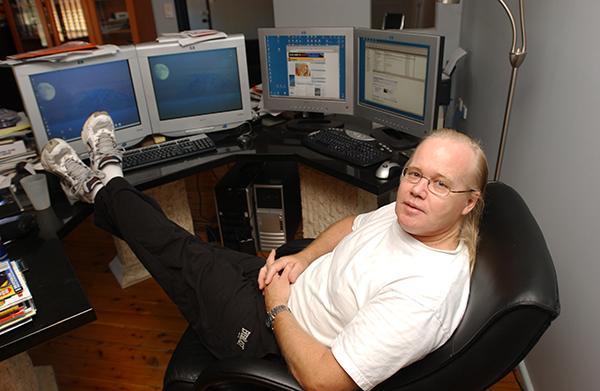 David Dicker in his office hub in 2006