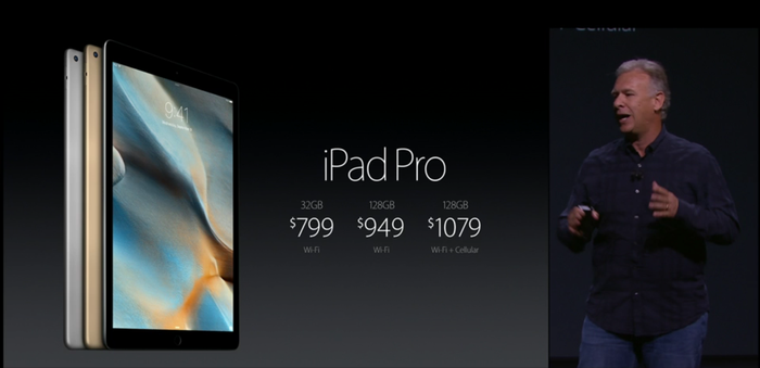 US pricing for the Apple iPad Pro