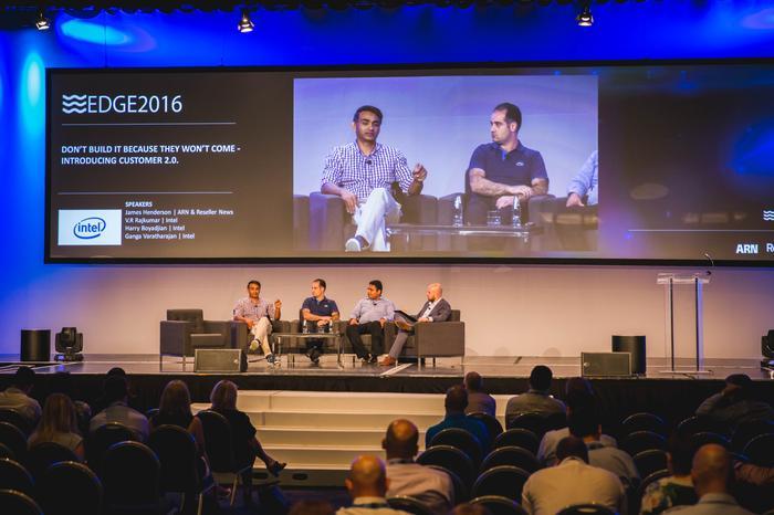 Ganga Varatharajan (Intel); Harry Boyadjian (Intel); Raj Kumar (Intel) and James Henderson (ARN and Reseller News)
