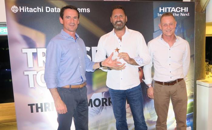 Nathan McGregor (Hitachi Data Systems A/NZ), Darren Lee (Market Creations) and Phil Teague (HDS A/NZ)