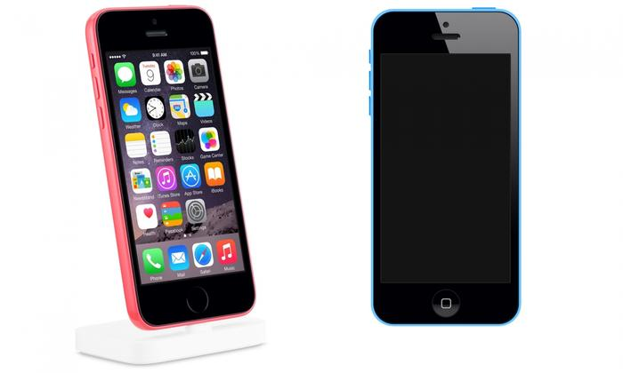 Unknown Apple phone and the iPhone 5C, Source: The Guardian